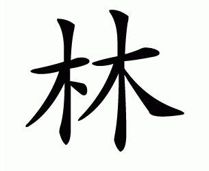 Chinese charcter of my surname