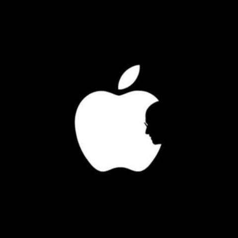 Jonathan Mak'sminimalist logo in tribute to Apple founder Steve Jobs