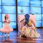 Nicki Minaj performing Super Bass with Sophia Grace Brownlee and  Rosie Grace McClelland on the Ellen DeGeneres Show