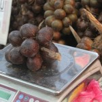 The bunch of salak fruits that I bought