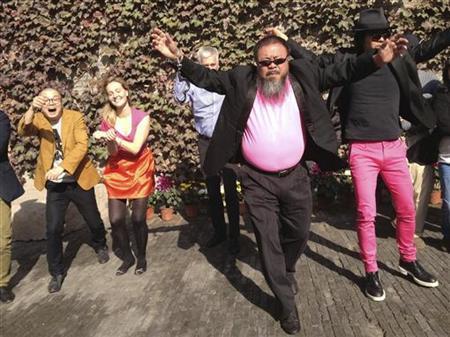 Ai Weiwei doing his parody of Gangnam Style