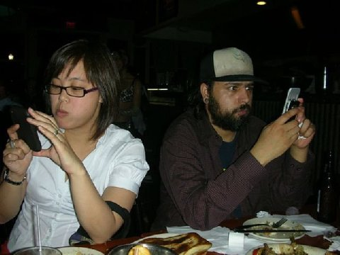 Enjoying a date with girlfriend