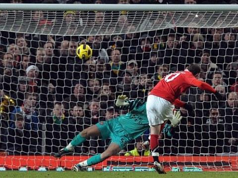 Wayne Rooney taking a penalty kick