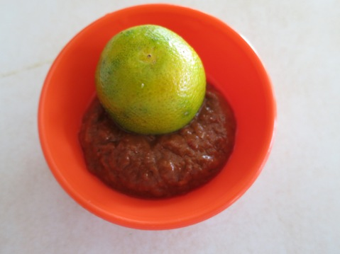 Sambal and lime