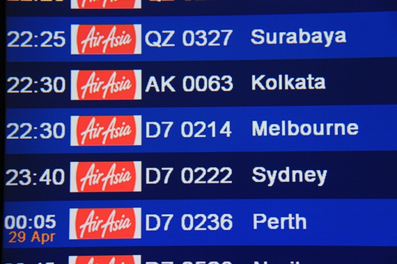Air Asia Flight to Melbourne