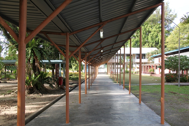 Corridors linking the old academic blocks