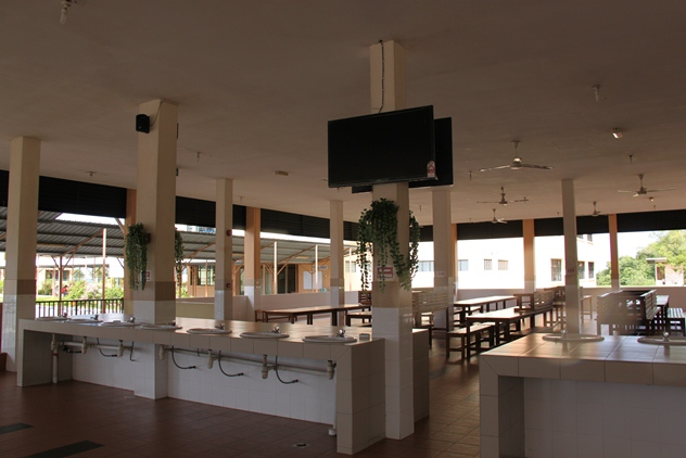 Inside the new cafeteria