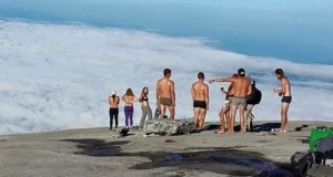 Nude tourists on Mount Kinabalu