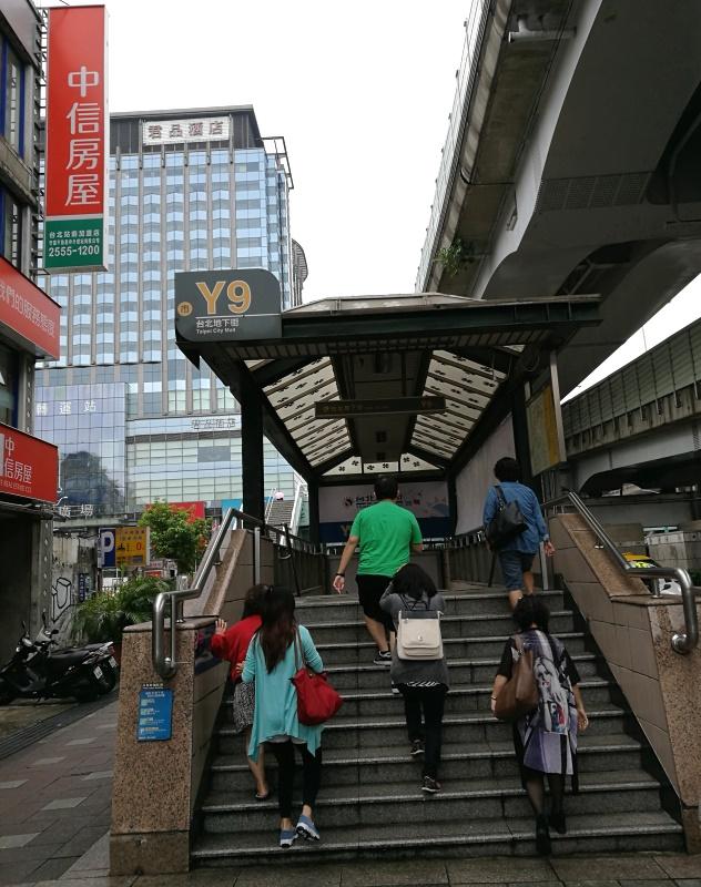 Going to Taipei Main Station Underground Mall