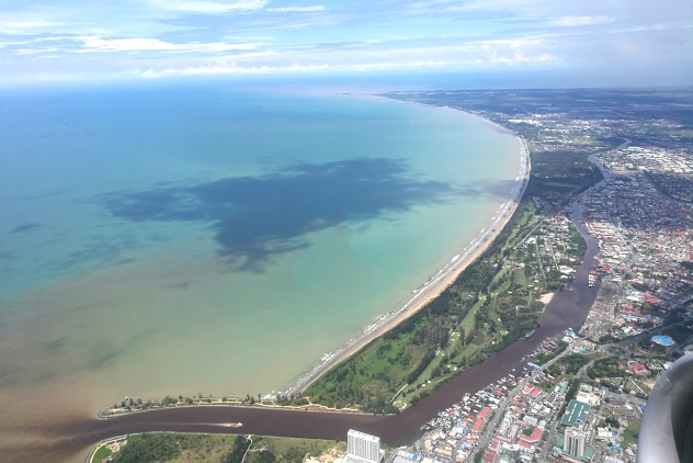 View of Miri on my flight to KL