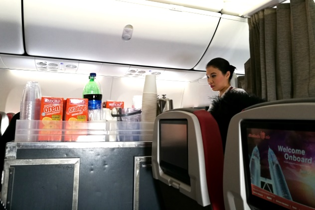 One of the friendly air hostesses who served us on our flight to KL