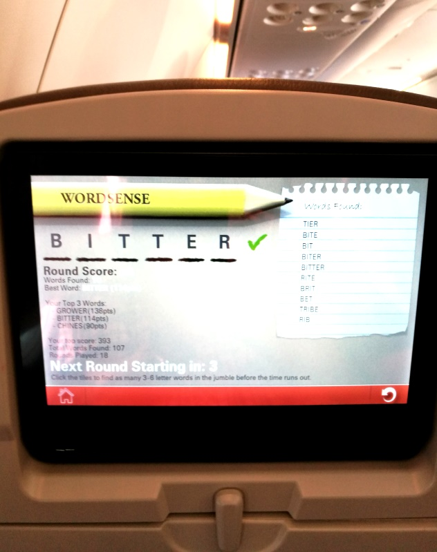 Wordsense kept me engrossed on my flight from KL to Miri