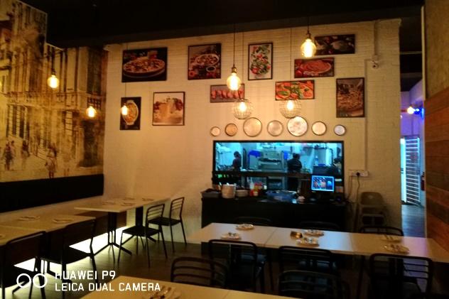 Inside Santino's Pizza