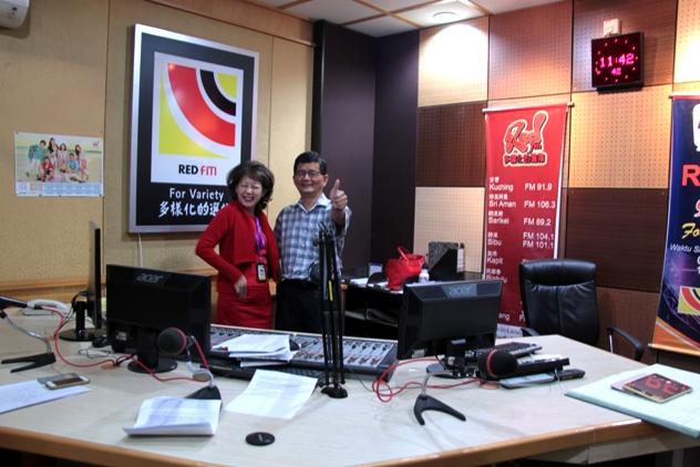 With Rosalind Tan at REDfm Sarawak