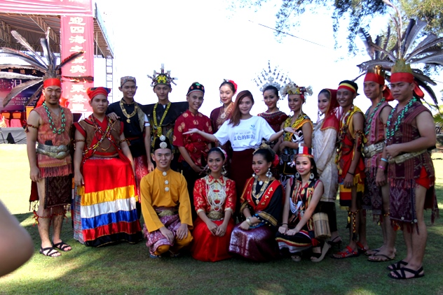 Dancers from various ethnic groups