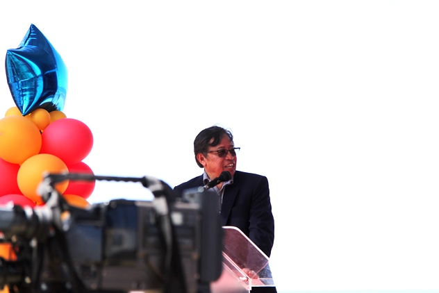 Sarawak deputy Chief Minister Datuk Amar Abang Johari Openg delivering his speech