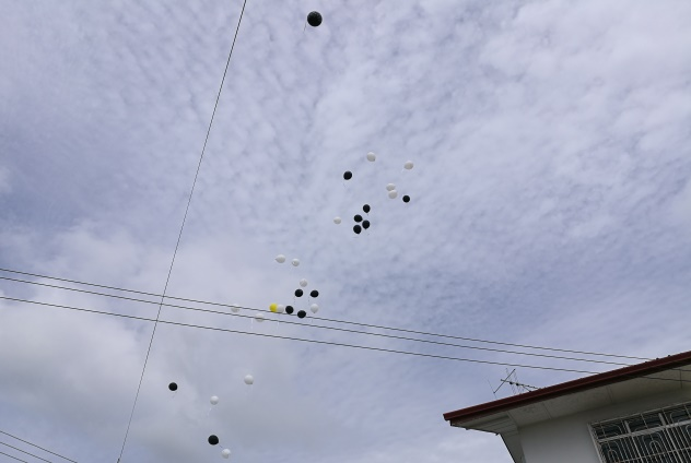 Balloons released into the sky