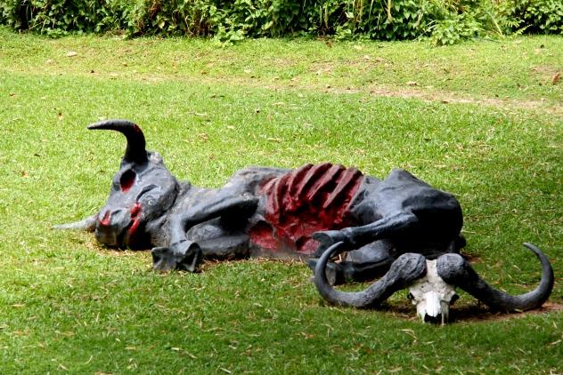 Sculpture near the Birds of Prey