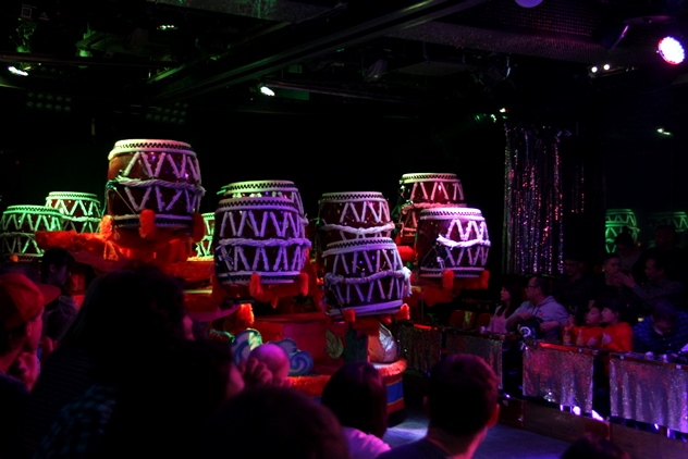 Enter the taiko drums