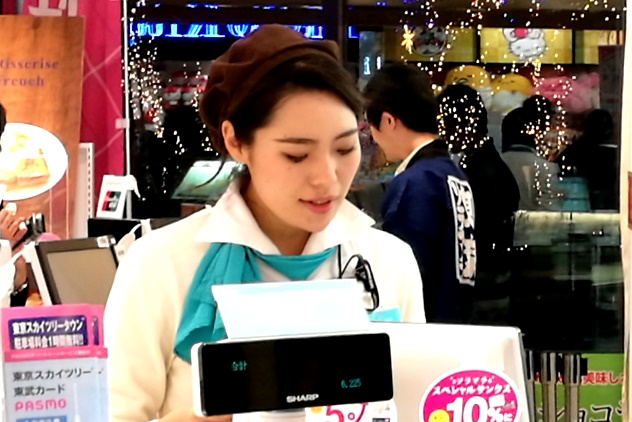 A cute counter staff