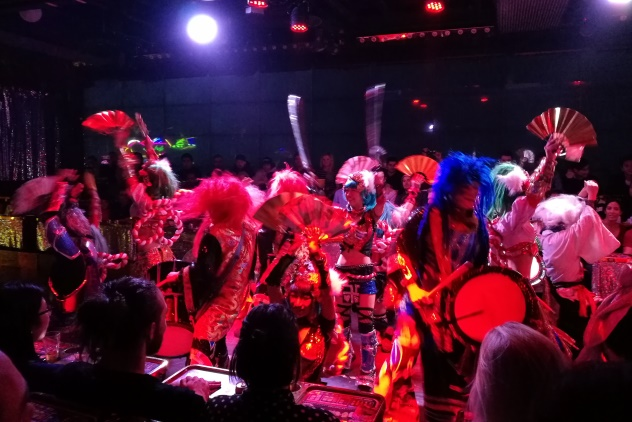 Wild and colourful dancers