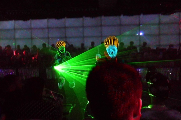 The laser and light show