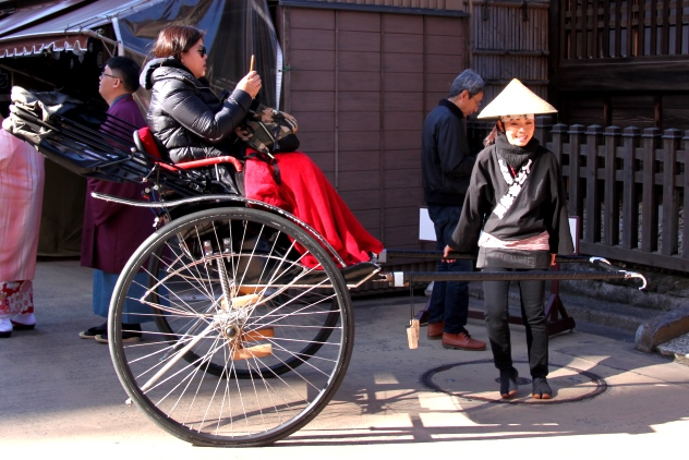 The only female rickshaw puller I saw when I was in Tokyo