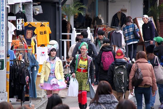 Cute street fashion in Harajuku