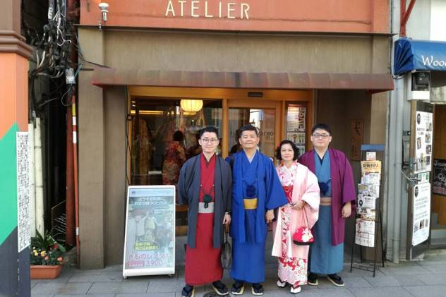 Outside Atelier all ready to explore Asakusa