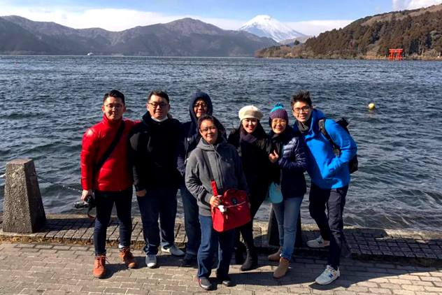 Lovely view of Lake Ashi & Mt Fuji