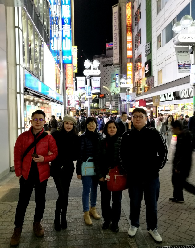 Shibuya's main pedestrian street