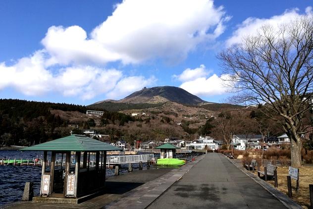 The hills near Lake Ashi