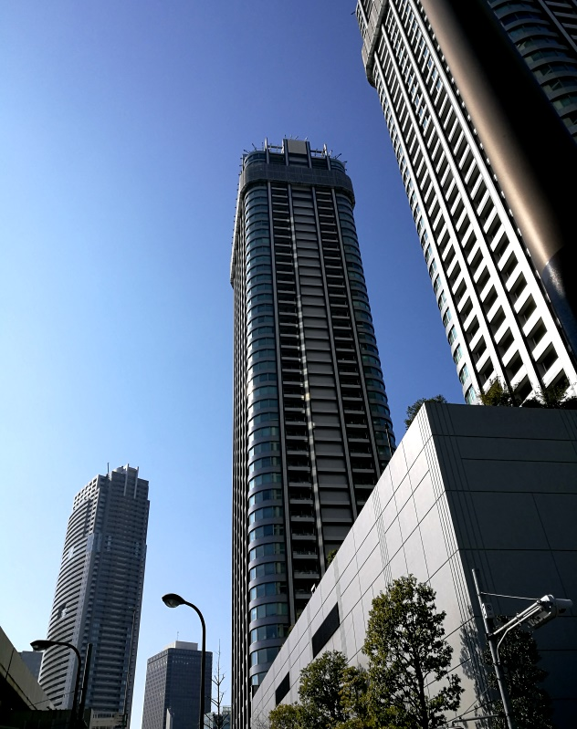 skyscrapers in the Shiodome district