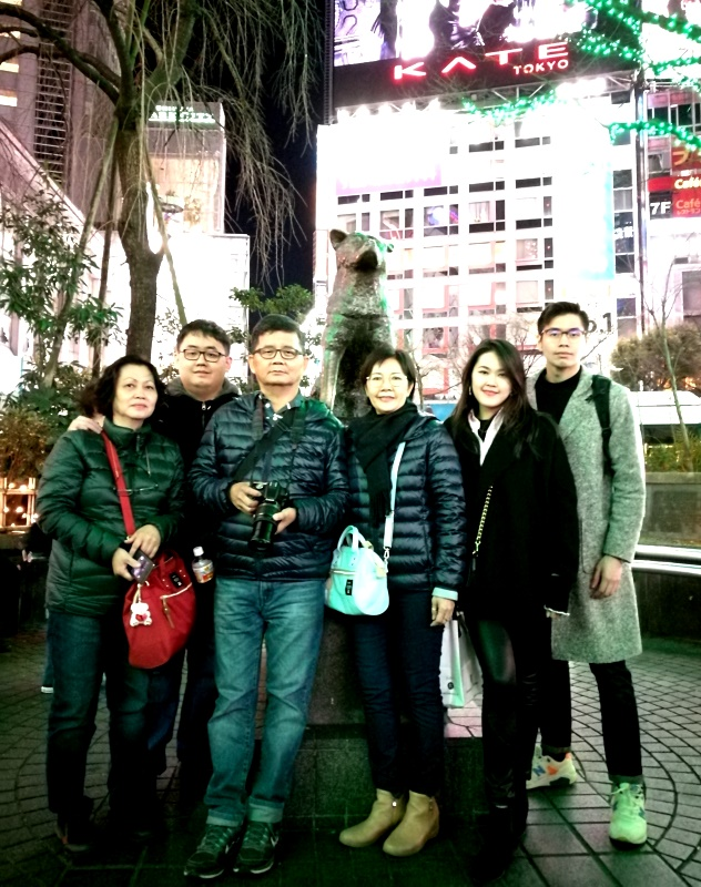 At the Hachiko Statue