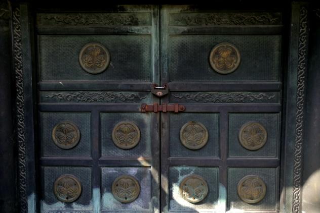 Steel door entrance