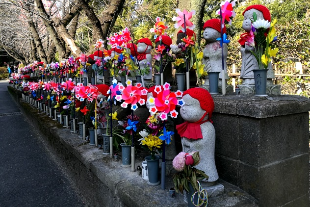 Stone Jizo Statues