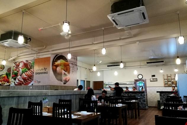 Inside the restaurant (ground floor)
