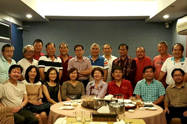 A gathering of college mates in Kuching earlier this year