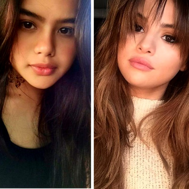Phan on the left and Selena Gomez on the right
