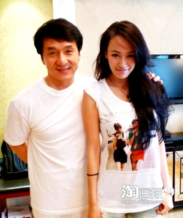 Muqi Miya with Jackie Chan