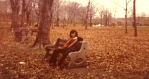 Me on Mount Royal in Montreal in late autumn in the late 1970s