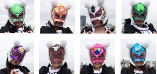 The 8 members of the Virtual Currency Girls